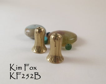 12mm/ 1/2 inch Cone/Bead Cap in Golden Bronze - perfect for a bracelet, earring or petite necklace by Kim Fox