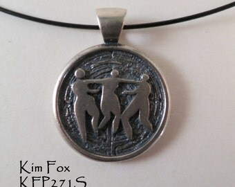 Three Graces or Sisterhood Pendant in Sterling Silver designed by Kim Fox
