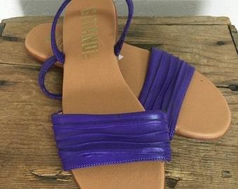 70% OFF CLOSING SALE Vintage 1980s Purple Vegan Leather Flats Sandals Slides Gitano 7