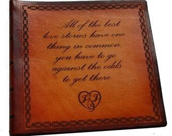 Custom Leather Baby, Wedding, Memorial or Anniversary Photo Album