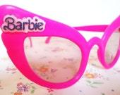 Authentic Preppy Barbie Cats Eyes Sunglasses.80s.Rare