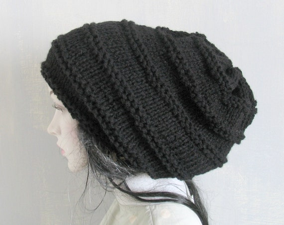 Knitted dreadlock hat warm baggy beanieslouchy beanieslouch
