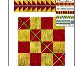Half Square Triangles, Sawtooth Borders from Checkerboards, Innovative, Rotary Cuting, Tubular, Strip Piecing