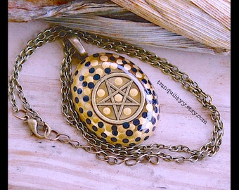 Pentagram Supernatural Necklace pentacle Necklace Clear Resin Necklace , Hipster, Gothic, By: Tranquilityy