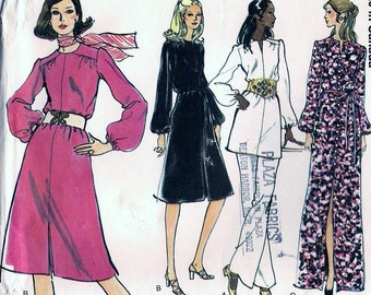 Vogue 8189 VIntage 1970s Half Size DRESS, Top and Pants Sewing Pattern Size 14.5 Bust 37i
