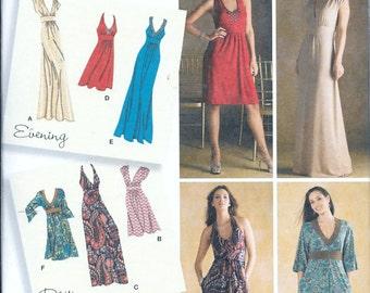 Simplicity 3503 Sewing Pattern Misses 6-14 Knit Dress Bodice Variations UNCUT Designer's Inspiration