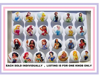 1 (one) Princess Dresser Drawer Knobs pulls girls kids you choose the one/s you want