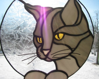 Gray Cat Suncatcher
