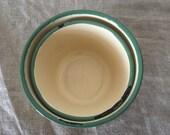 Two yellow VINTAGE enamel ware bowls. Vintage kitchen / vintage home.