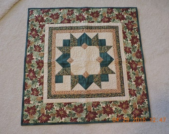 Christmas Quilted Table/Candle Mat