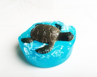 SEA Turtle OCEAN SOAP! Chubby Ocean Animal, Beach, Easter Basket Filler, Party Favor, Stocking, Summer Fun Birthday Bubbles Lush Tub Gift