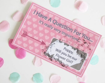 Will You Be Our Flower Girl Scratch Card