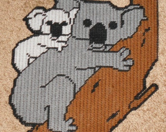 Koala with Baby Plastic Canvas Pattern