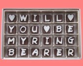 Will You Be My Ring Bearer Gift Ring Boy Gifts Ideas for Boys Box Ringbearer Unusual Way Asking Wedding Invitation Cubic Chocolate Letters
