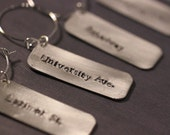 6 Hand Stamped Denver Streets Wine Charms / unique hostess gift / personalized wine charms / unique wedding present / colorado gift