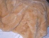 Golden Teddy Bear Faux Fur . . . . . . .New Fur ! ! !