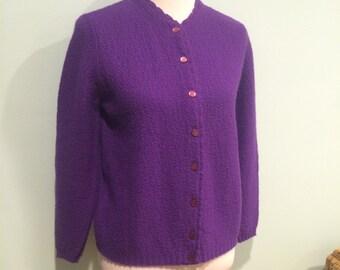 Lovely Vintage Purple Cardigan