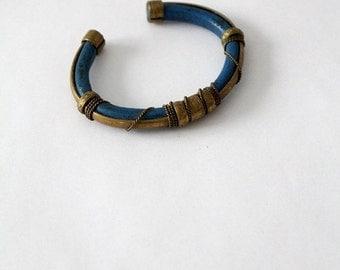 SALE vintage brass cuff, bohemian bracelet