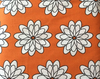 SALE Spiral flower in orange, delight by Windham Fabrics, 1/2 yd