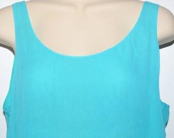 Vintage Aqua Ladies Silk Tank Top