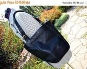 ON SALE Vintage COACH Bag Xxx Large Feed Bag  Largest One They  Make Black Dior  Bucket Bag Hangtag Superb