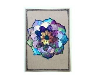 Handmade Blank Card - Paper Flower Garden series 1 - 5x7 (PFGL-0028)