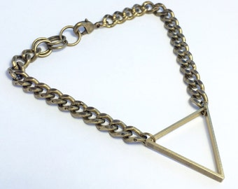 Brass Triangle Bracelet