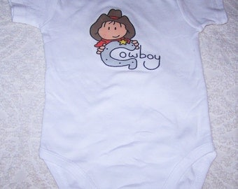 9 to12 mo. Short Sleeve Luvable  Friend  Cowboy Onsie, Cute for Spring, Summer
