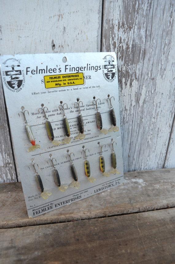Vintage felmlee fishing lure display original with lures fish for Fishing lure display