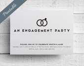 Simple Engagement Party Invitation Printable