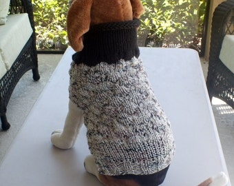 Dog Coat Winter Medium 15 inches long Merino Wool