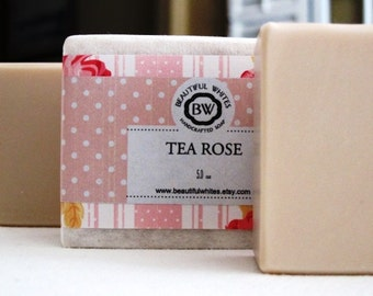 Tea Rose Soap | Artisan Soap | Vegan Soap | Natural Soap | Cold Process Soap