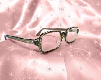 Mod Vintage Rhinestone Eyeglass Frames - 60s Mod Eyeglasses - Rhinestones