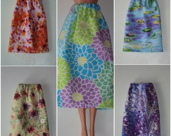 """Artist Fabric Skirt for Barbie Dolls ~ Clothes for 11 1/2"""" Fashion Dolls"""