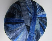 2 Skeins of Ribbon Yarn Incredible by Lion Brand in Blue Shades