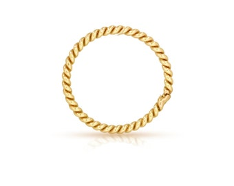 14Kt Gold Filled 20ga 4mm Twisted Closed Jump rings  - 20pcs High Quality Jump Rings (6492)/1