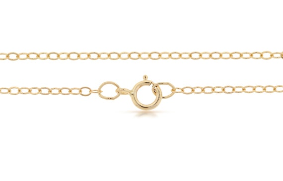 Finished Chains with spring ring clasp 14Kt Gold Filled 2.2x1.6mm 24 Inch Flat Cable Chain - 1pc (2822)
