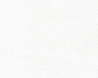 White 10 oz Stretch Denim Woven Fabric (by the  Yard)