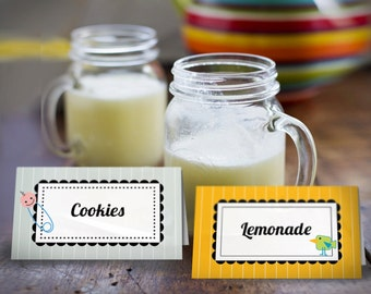 Baby Shower Food Labels  | printable tags | Food Tents | Gender Neutral | INSTANT DOWNLOAD