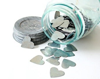 10 Scratch Off Cards coins scratch off stickers coins small METAL hearts silver heart coins heart token