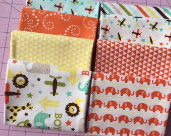 Oh Boy Riley Blake Fat Quarter Set Of 8