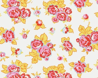 Milk Sugar Flower White Floral Elea Lutz Penny Rose Fabrics 1 Yard