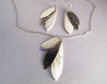 Elk Antler Gift Set SHIPS IMMEDIATELY Handmade Elk Antler Necklace Earrings