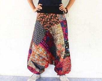 Csutom order for Chery 3/4 pathcwork Thai batik sarong harem pants handmade Thai batik sarong