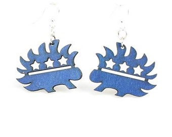 Libertarian Porcupine - The political party for freedom - Wooden Laser Cut Earrings