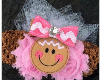 Gingerbread Christmas Baby Headband