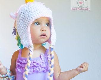 Crochet unicorn beanie, baby unicorn, newborn to adult unicorn beanie, baby prop, baby shower gift, unicorn photo prop, cake smash hat