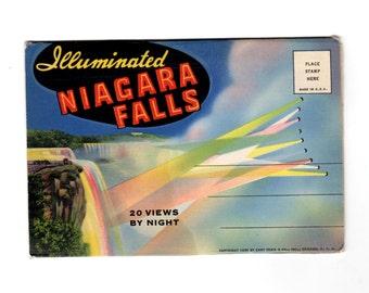 Vintage Niagara Falls New York Postcard Souvenir Folder