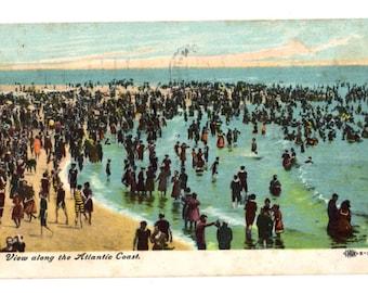 View Along the Atlantic Coast Vintage Used Postcard