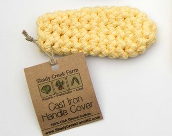 Cast Iron Handle Cover -- set of 2 --  Crochet Cast Iron Cover, Crochet Pot Holder, Kitchen, Camping with Cast Iron, Valentines Gift